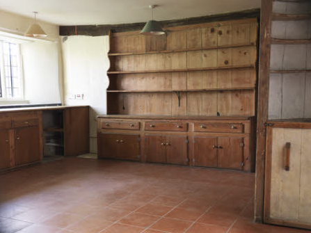 The kitchen, Avebury Manor, Wiltshire, prior to its redecoration
