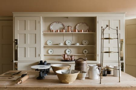 The Kitchen with the Philip Webb dresser at Standen, West Sussex.