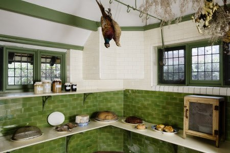The Larder with a food safe at Wightwick Manor, Wolverhampton, West Midlands.