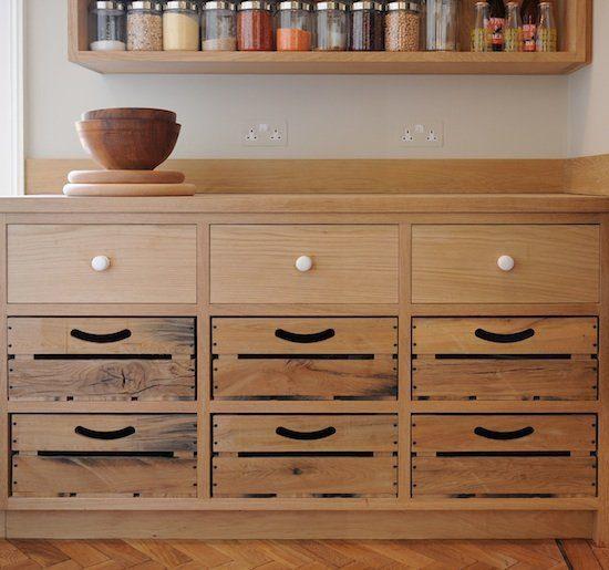 rustic oak drawers