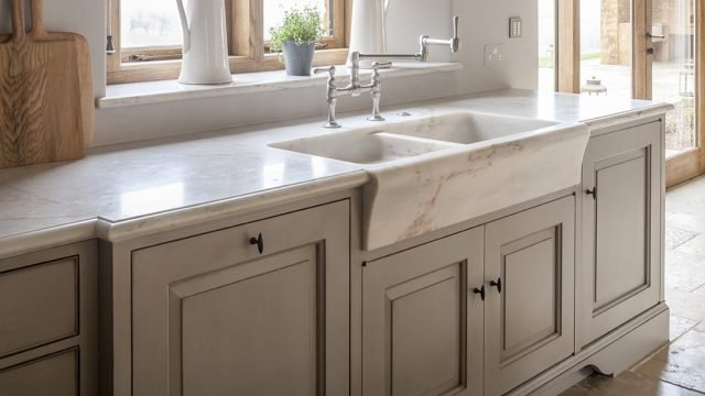 marble sink and worktop
