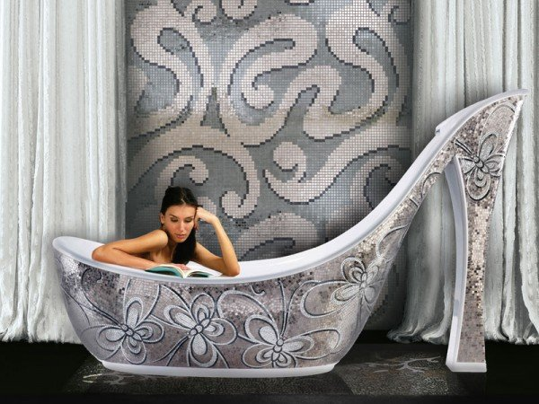Swarovski crystal covered shoe shaped bath