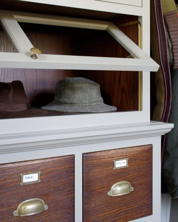 Edwardian Bootroom, Queen Anne House, Gloucestershire - Up and Over cupboards