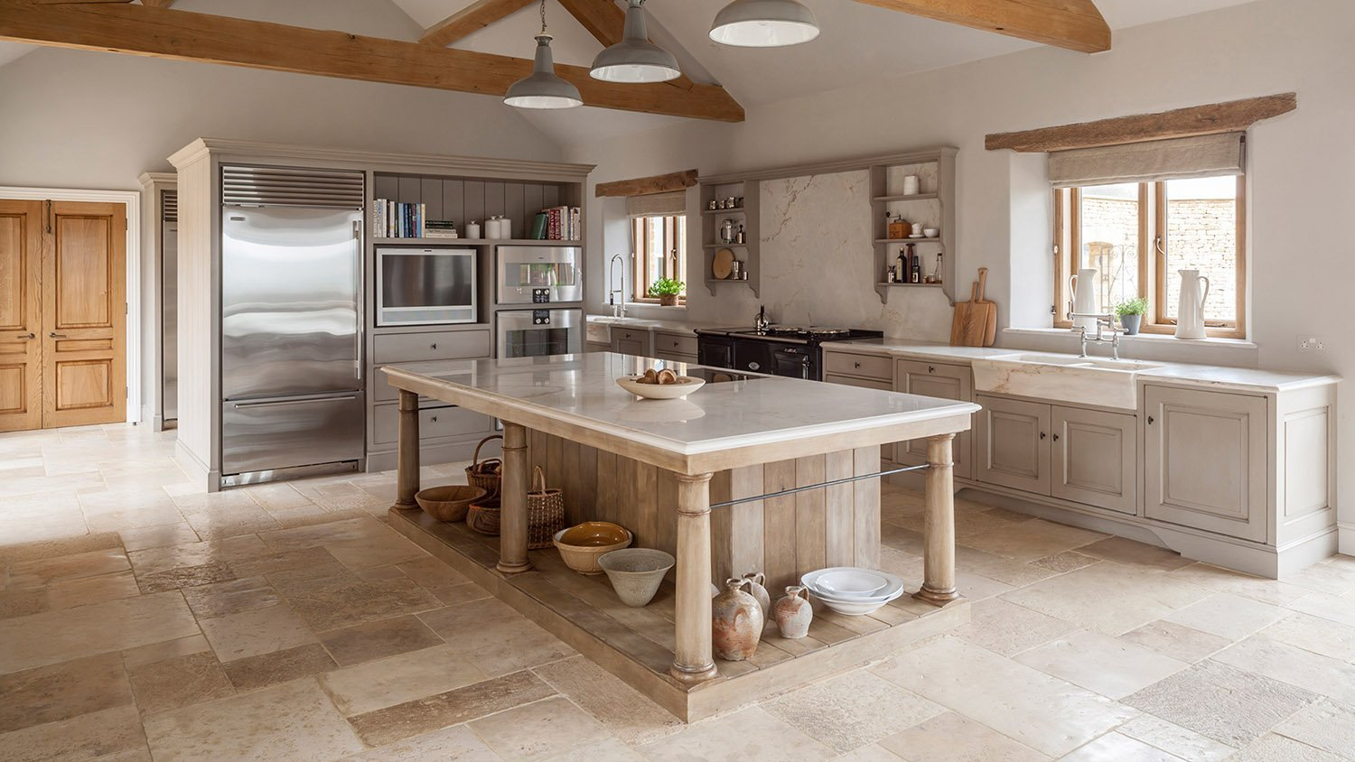 Modern rustic kitchen with Flemish design influence