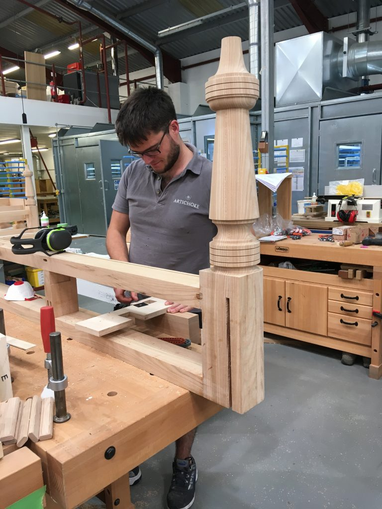 Cabinet maker making an island