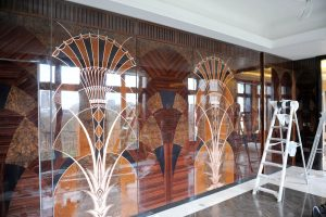 art deco kitchen panels