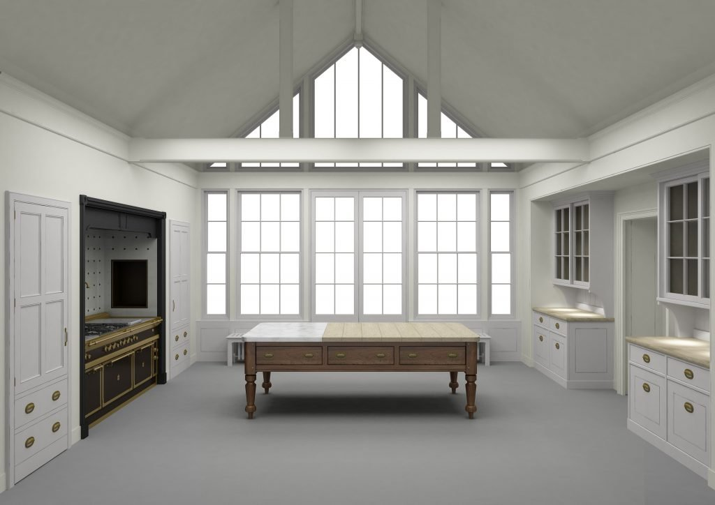 Render of Artichoke's bespoke kitchen design