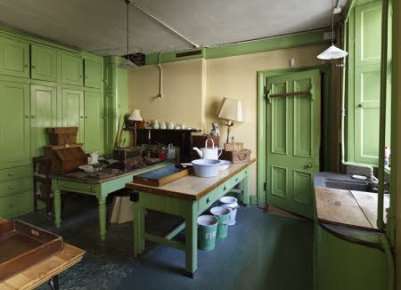 Room view of the Butler's Pantry at Tyntesfield, North Somerset