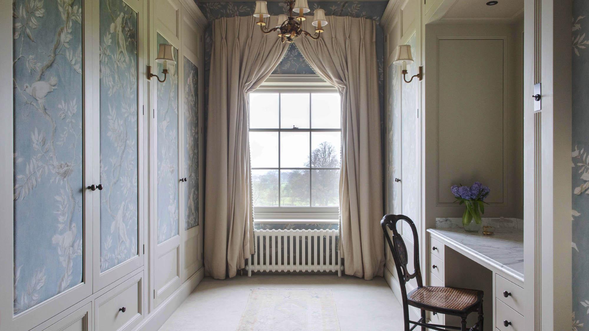 Elegant Ladies Dressing Room in a Grade II Listed home