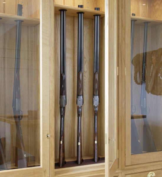 Artichoke bespoke gun room design interior furniture