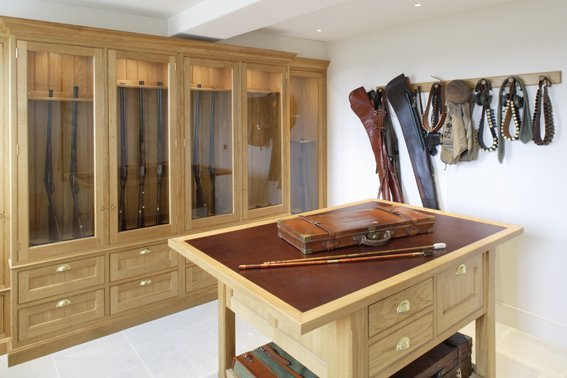 bespoke gun room interior furniture design artichoke