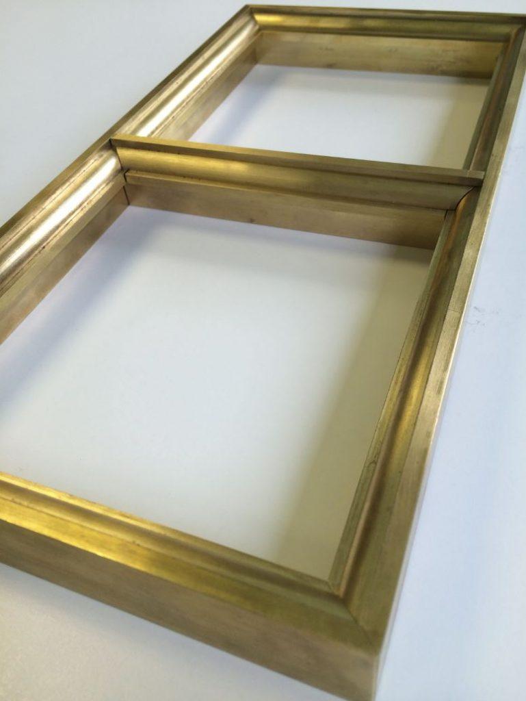 brass window frame