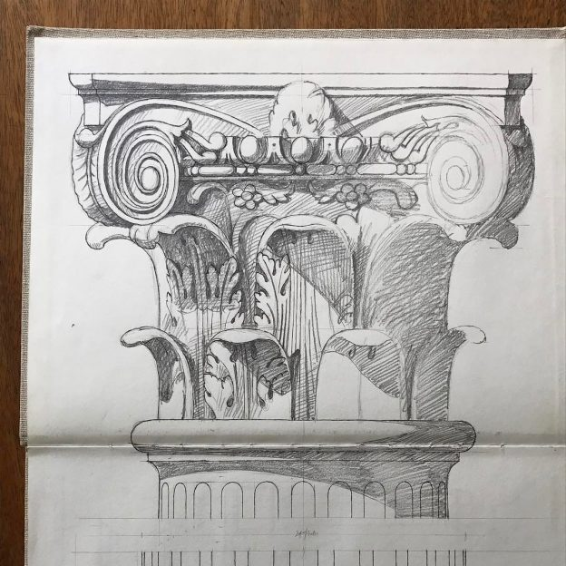capital of a Corinthian column.