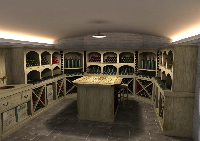 Wine cellar design, interior joinery, bespoke, artichoke
