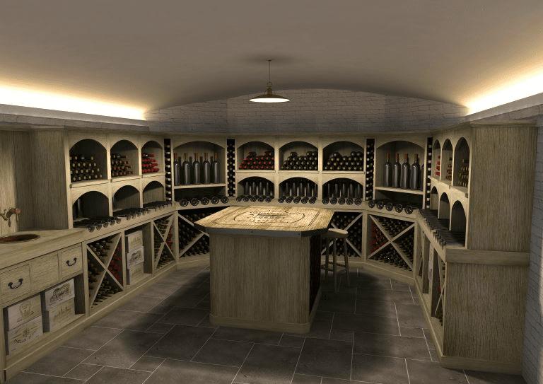 Wine cellar design, interior joinery, bespoke, artichoke