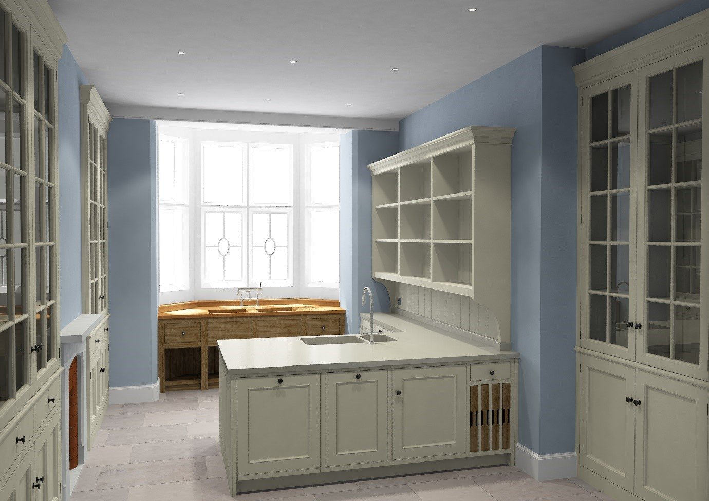 3D render of Artichoke designed butler's pantry