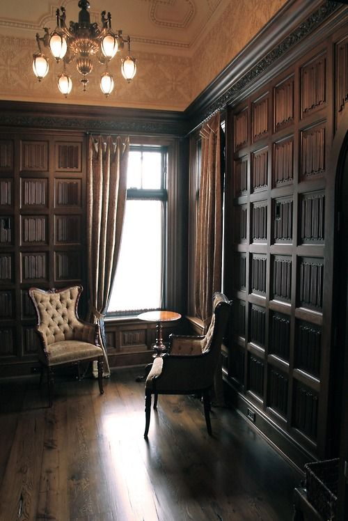 Linenfold Panelling in a hallway