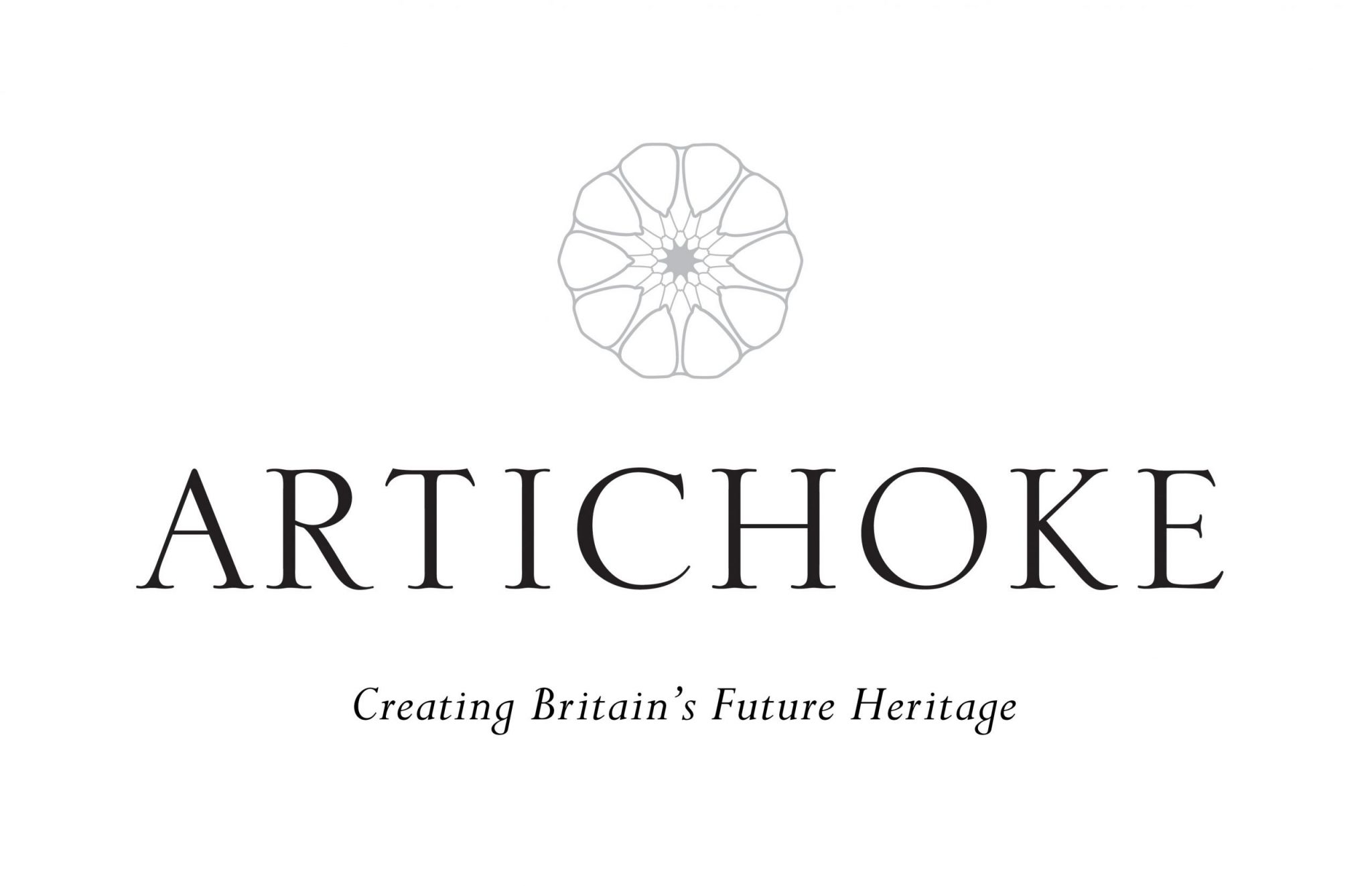 A logo for artichoke designers and makers of britain's future heritage