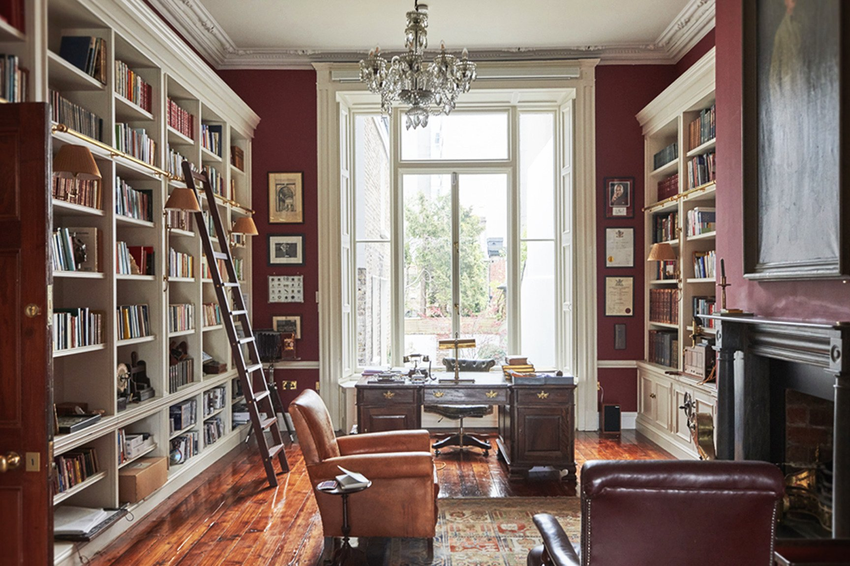 georgian library design for a townhouse in Dublin
