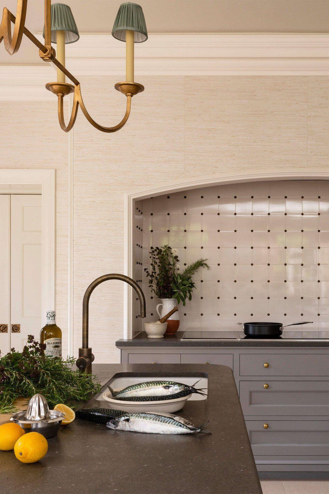Classic English kitchen design details