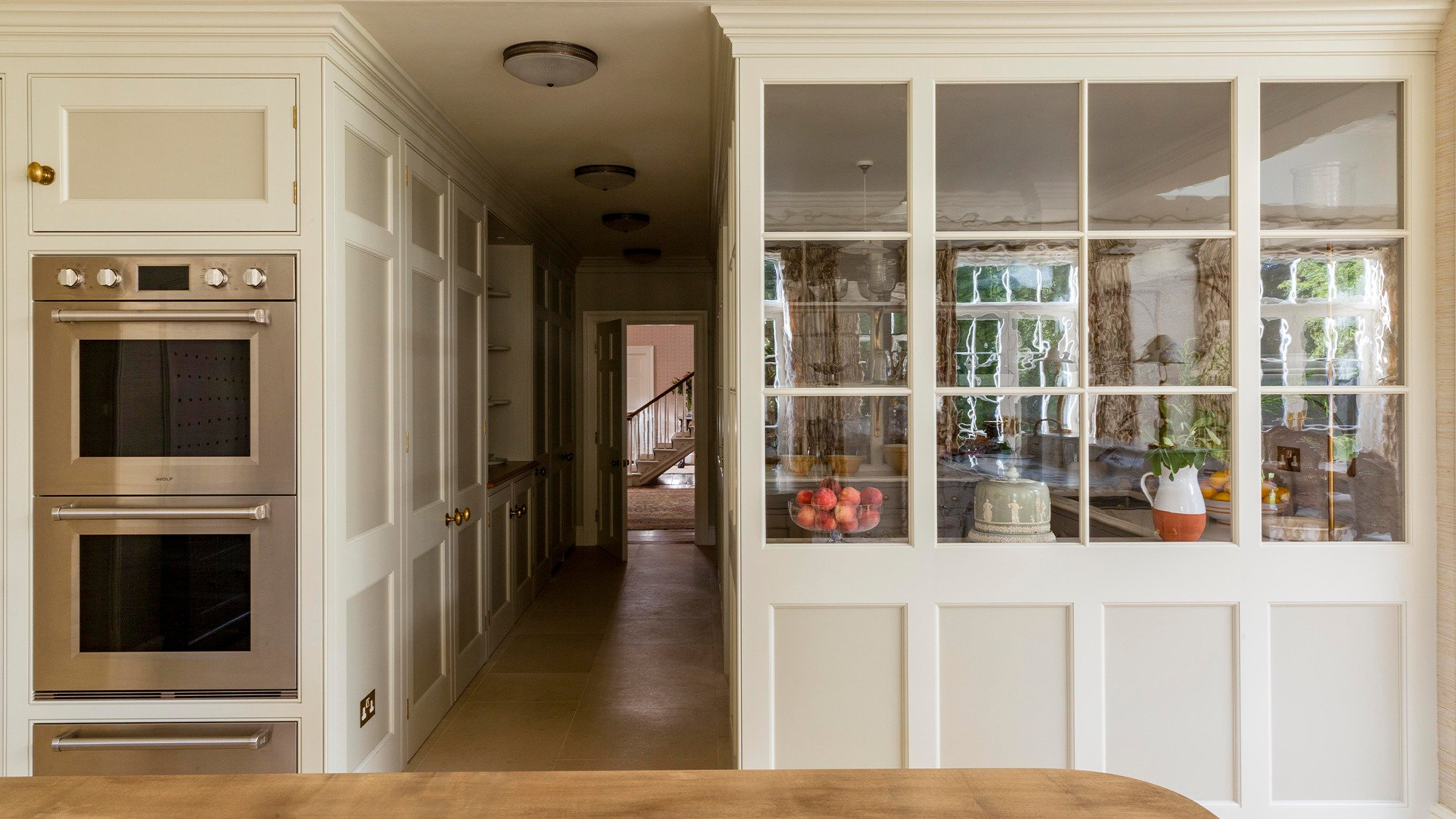 Cold storage room for a classic English kitchen