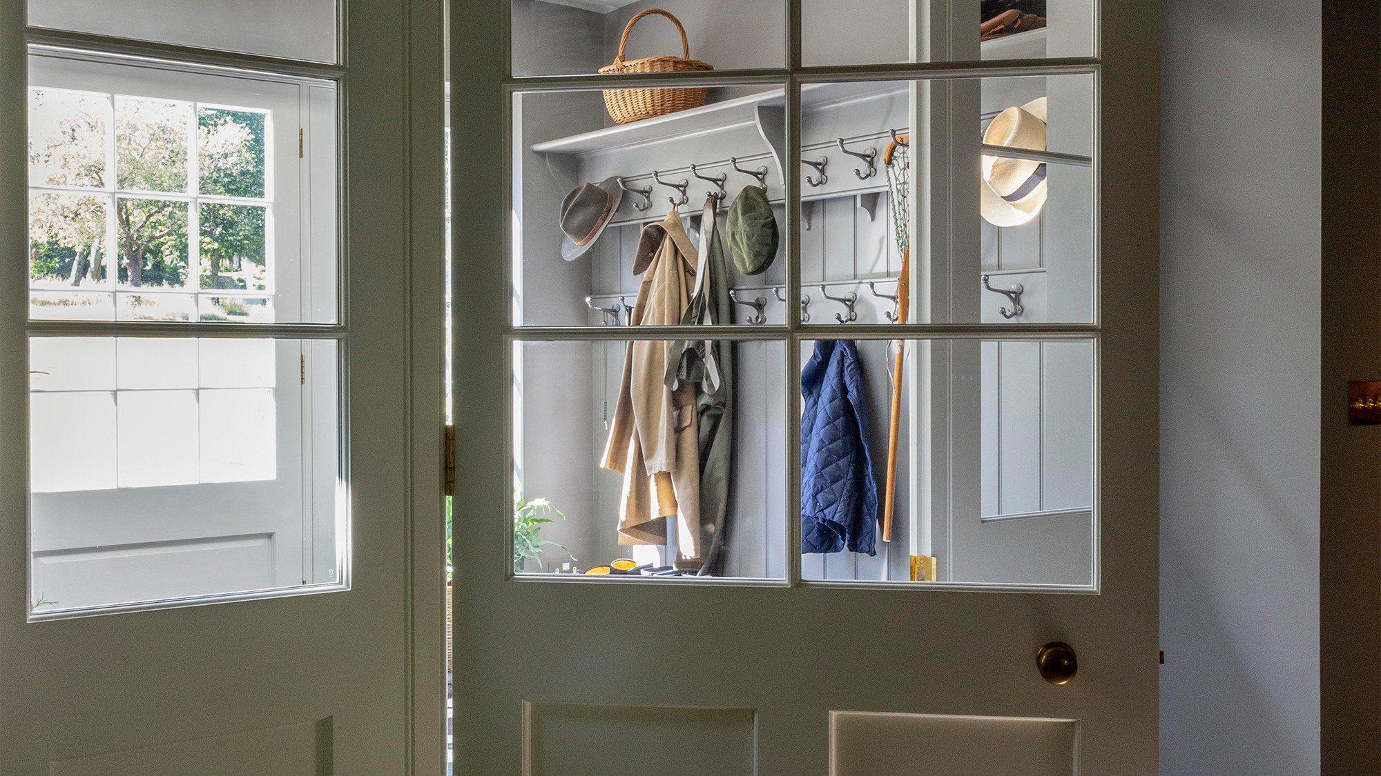 Country house boot room door detail