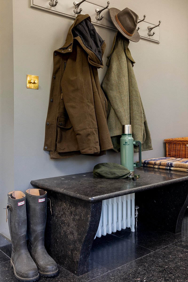 Country house boot room heated seat