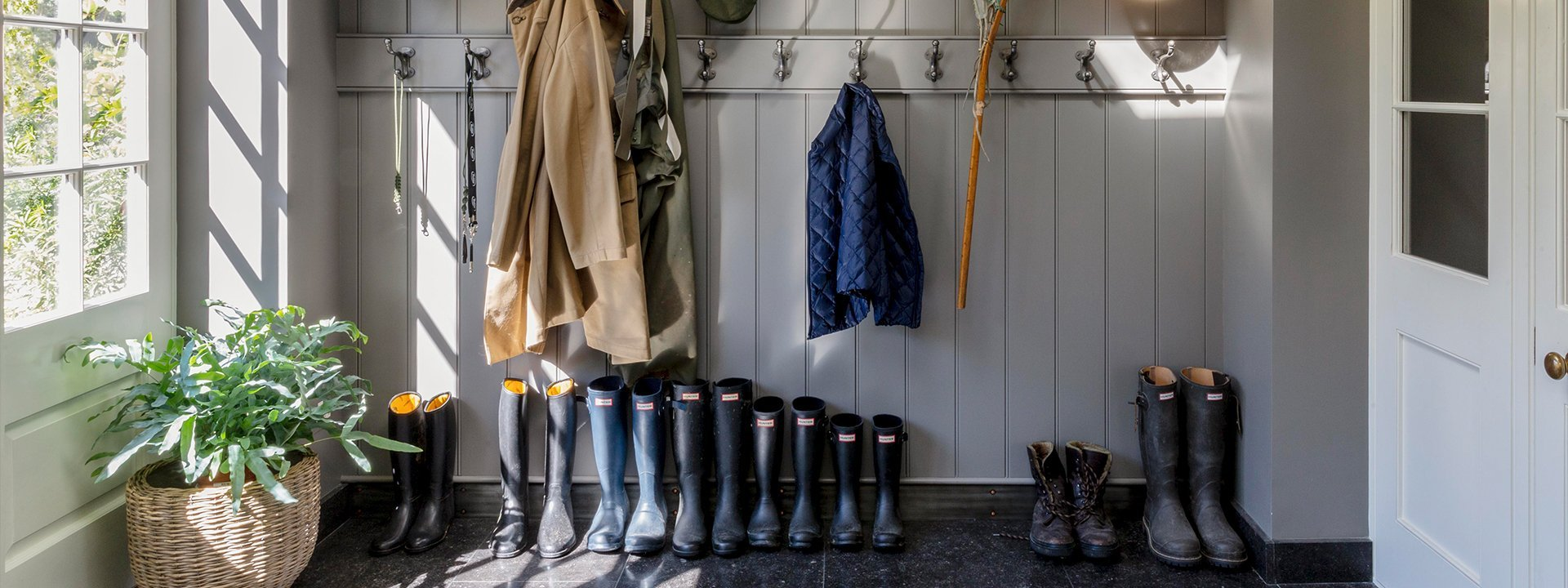 Country house boot room
