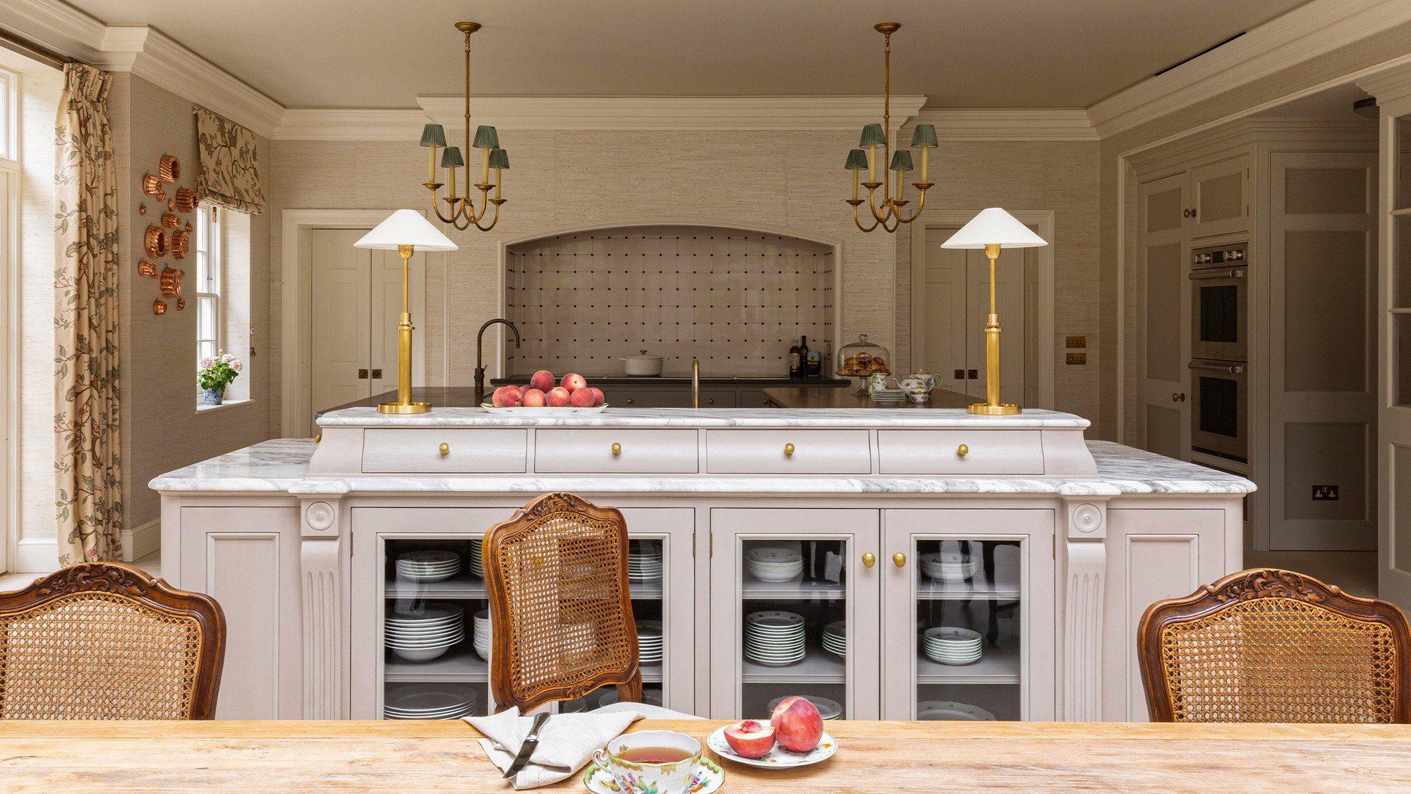 Regency style English kitchen island
