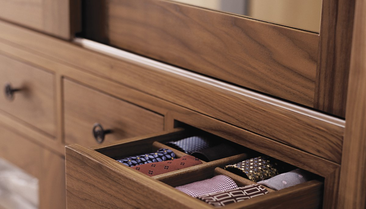 bespoke dressing room drawer detail