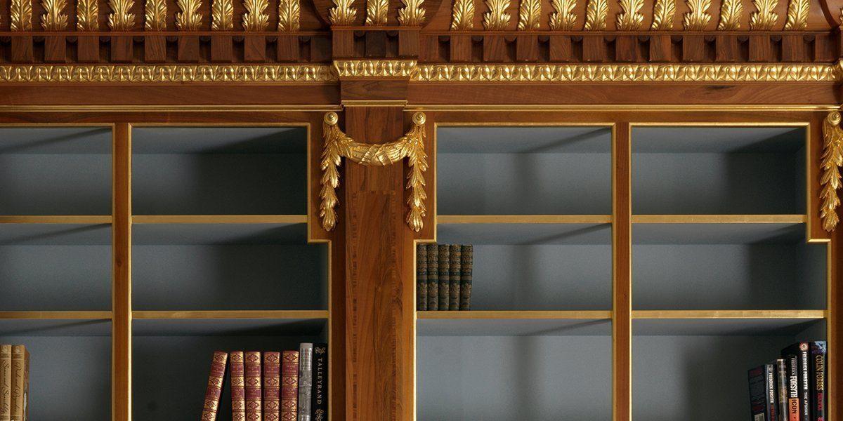 bespoke library design shelves