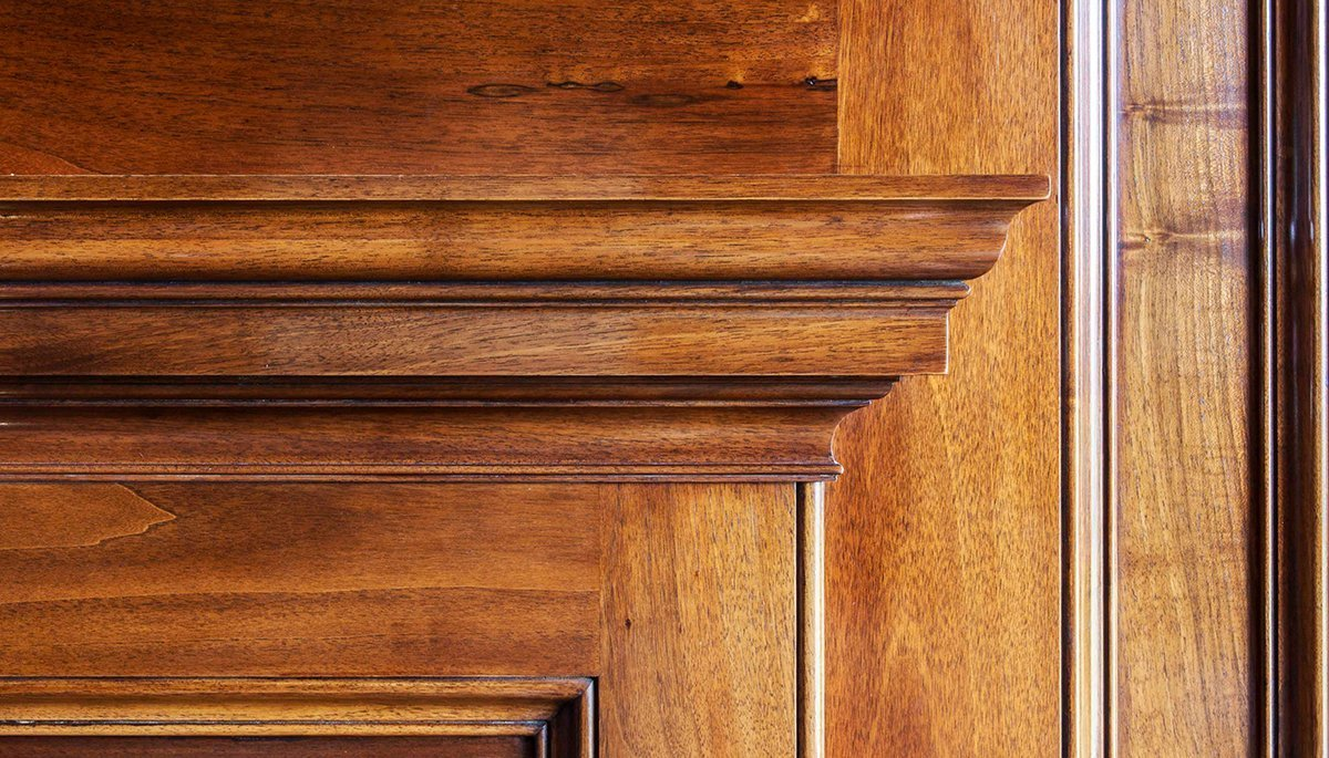 bespoke library panelling detail