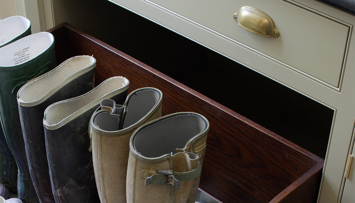 boot room bespoke fitted furniture