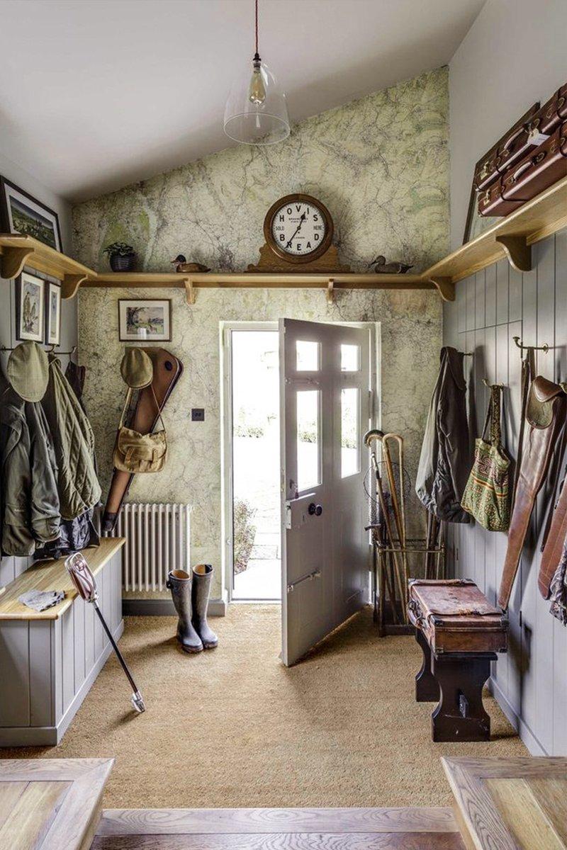 english country boot room design