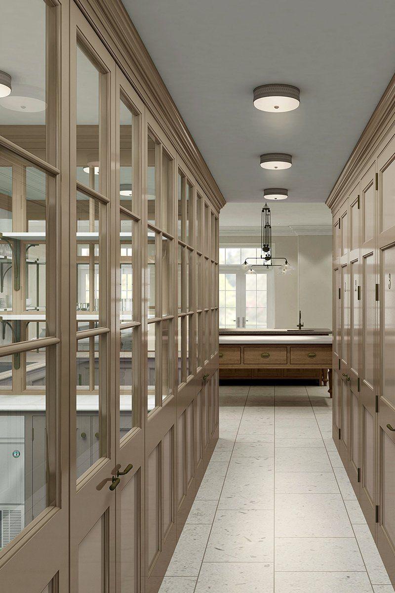 english country house design glazed hallway