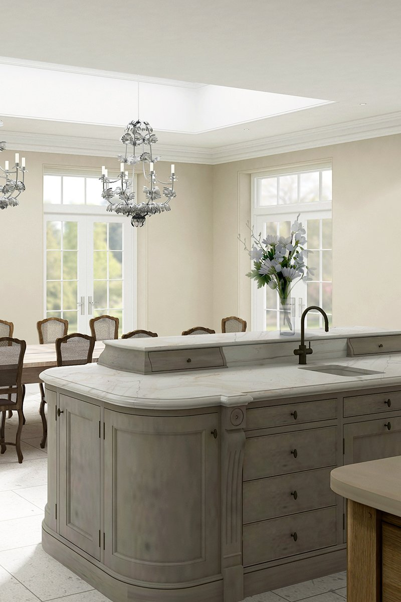 english country house design kitchen island