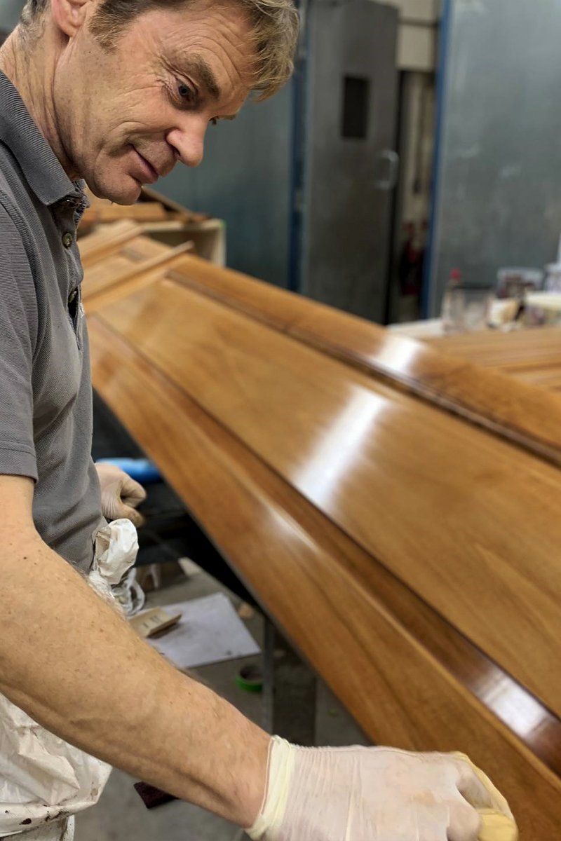 wood finishing techniques in artichoke cheddar workshop