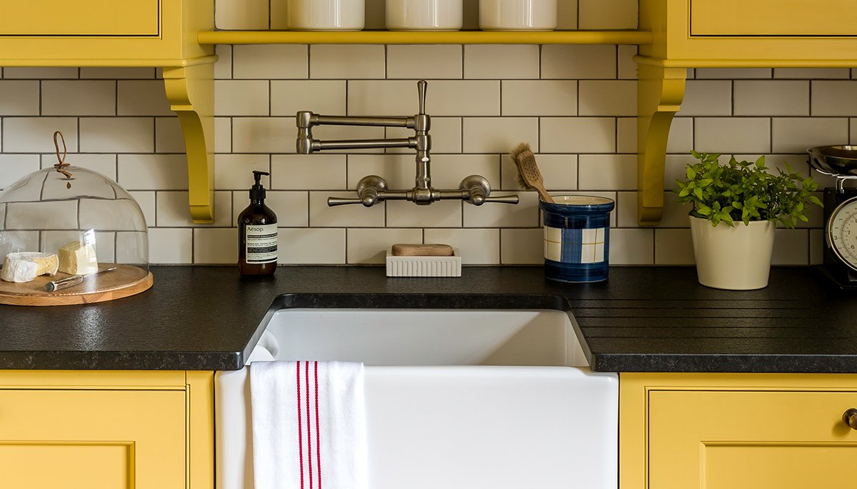 yellow kitchen scullery design