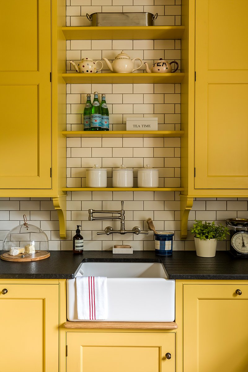 yellow scullery kitchen