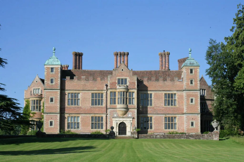 chilham castle on a clear blue day